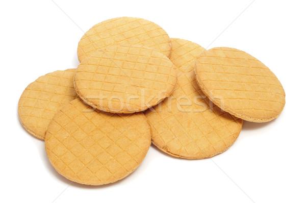 Holandês caramelo biscoitos branco comida Foto stock © nito