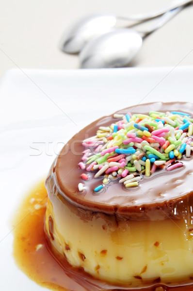 creme caramel Stock photo © nito