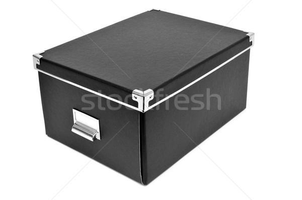 black cardboard storage box Stock photo © nito