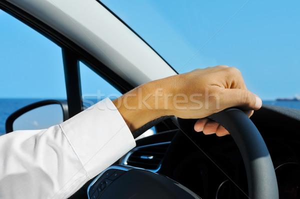 man driving a car Stock photo © nito