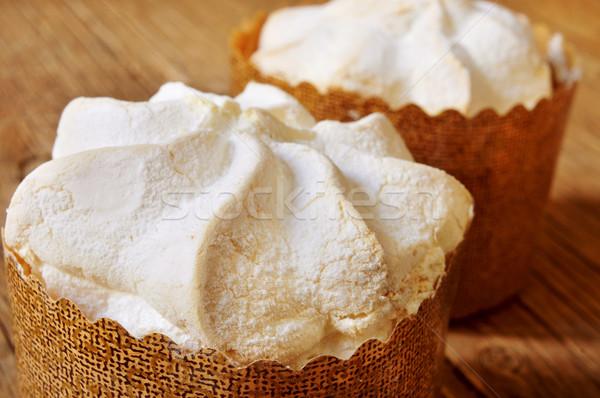 merengues, spanish baked meringue Stock photo © nito