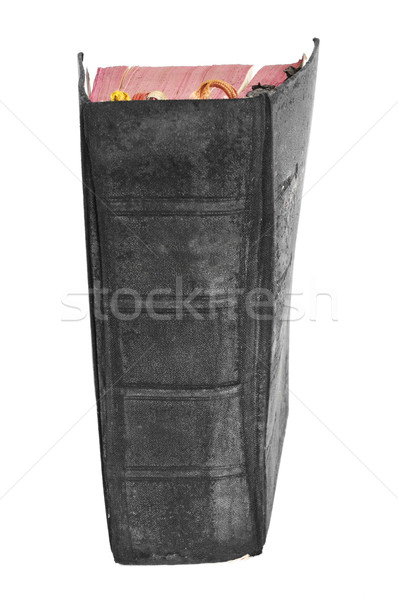 worn-out old book on a white background Stock photo © nito