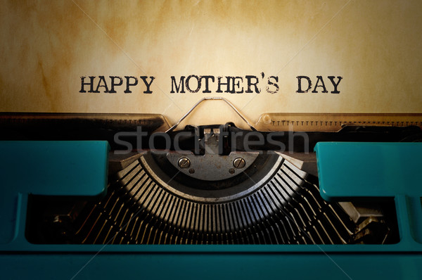 typewriter and text happy mothers day Stock photo © nito