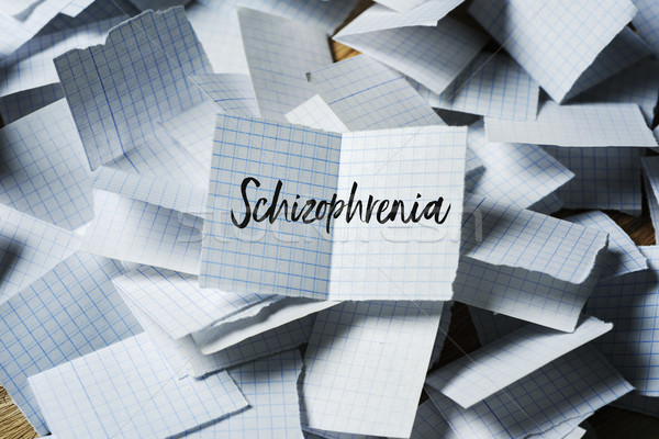 text schizophrenia in a piece of paper Stock photo © nito