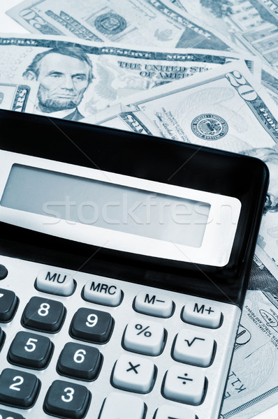 calculator and dollars Stock photo © nito