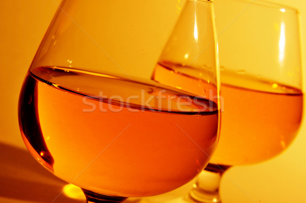Cognac verres brandy club rétro Photo stock © nito