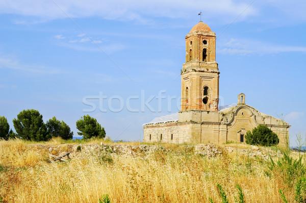 Sant Pere Church in Poble Vell de Corbera d'Ebre in Spain Stock photo © nito