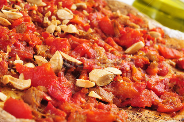 coc de tomata, a pie with tomato and tuna typical of Valencia, S Stock photo © nito