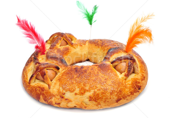 traditional mona de pascua typical in Spain, a cake with boiled  Stock photo © nito