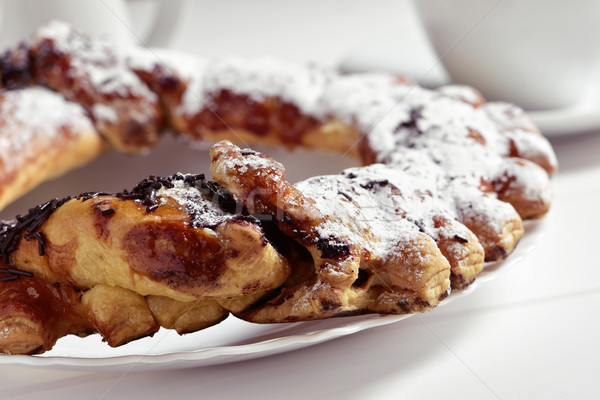 Spaans cake chocolade glazuursuiker voedsel Stockfoto © nito