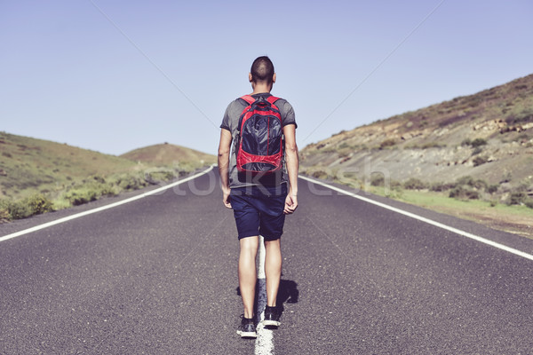 young backpacker man Stock photo © nito