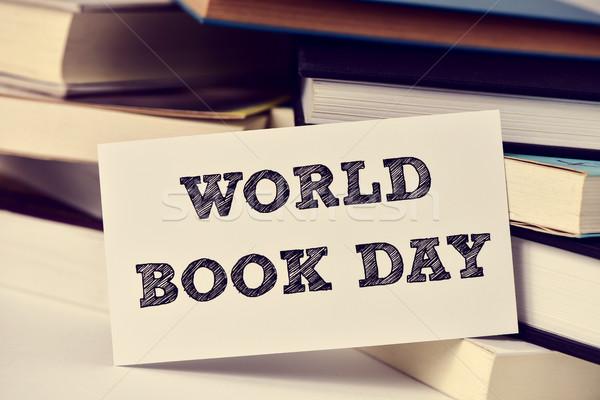 книгах текста Мир книга день Сток-фото © nito