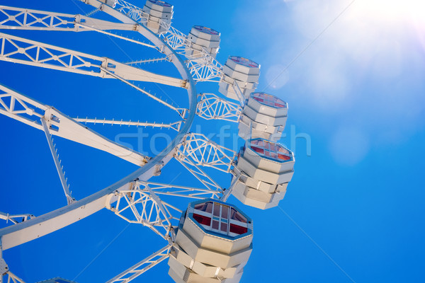 ferris wheel against the blue sky Stock photo © nito