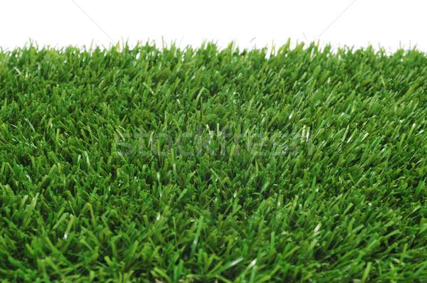 Hierba primer plano blanco fútbol diseno fútbol Foto stock © nito