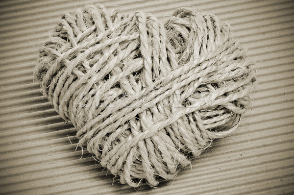 Stock photo: rope heart