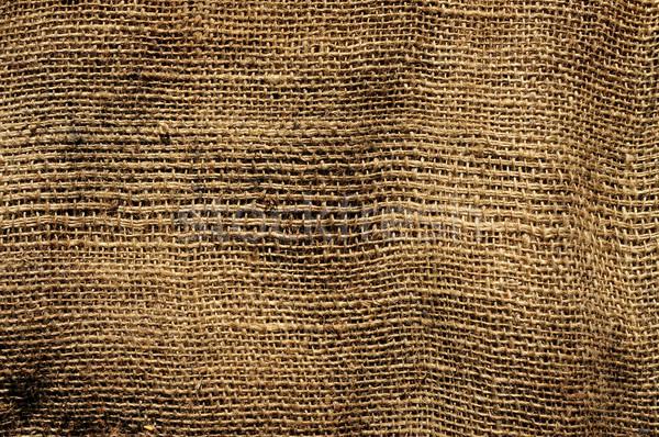 Velho pano de saco tecido sujo fundo Foto stock © nito