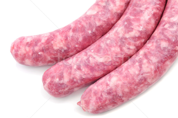 uncooked pork meat sausages Stock photo © nito