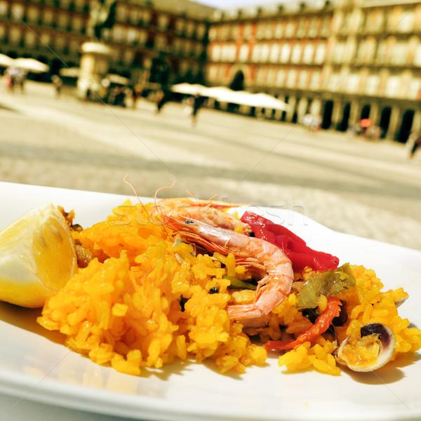 paella in Plaza Mayor in Madrid, Spain Stock photo © nito