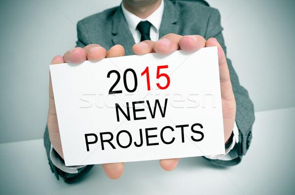 Uomo suit testo 2015 nuovo progetti Foto d'archivio © nito