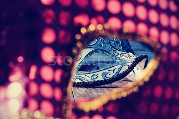 Stock photo: elegant carnival masks