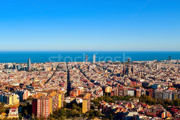 Barcelona İspanya deniz seyahat Stok fotoğraf © nito