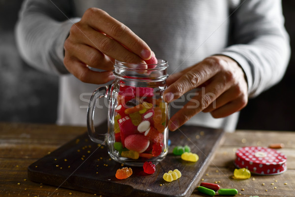 candies in a mason jar Stock photo © nito