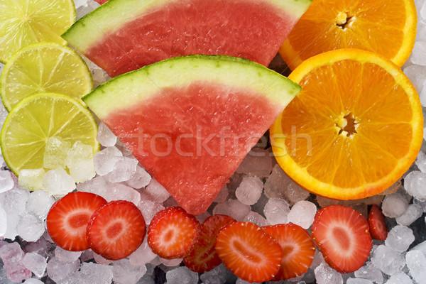 lemon, watermelon, orange and strawberries Stock photo © nito