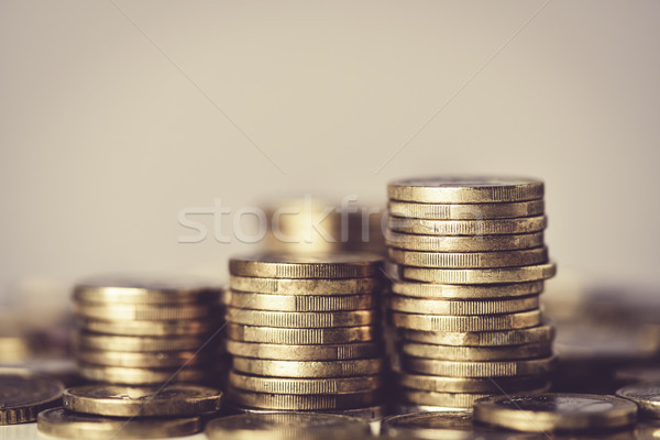 piles of euro coins Stock photo © nito