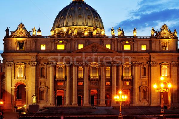 Basilique saint Cité du Vatican Italie vue coucher du soleil Photo stock © nito