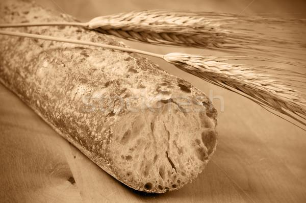 Pão trigo orelhas superfície Foto stock © nito