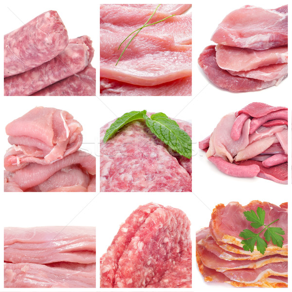 raw meat collage Stock photo © nito