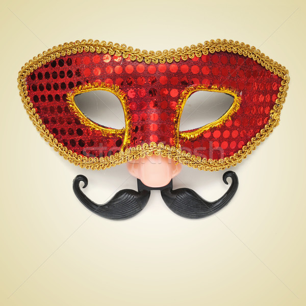 carnival mask with fake nose and moustache Stock photo © nito