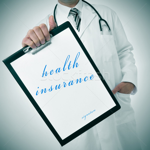 Seguro de saúde médico clipboard texto escrito Foto stock © nito