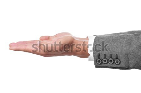 man hands open as showing or holding something Stock photo © nito