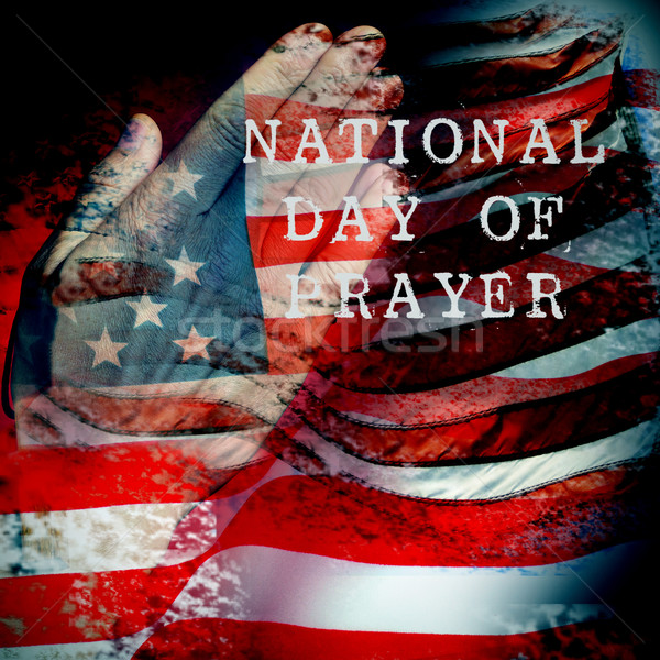 man praying and text national day of prayer Stock photo © nito