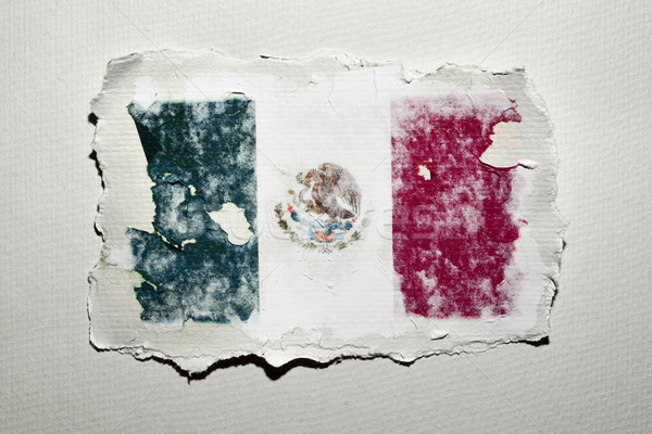the flag of Mexico Stock photo © nito