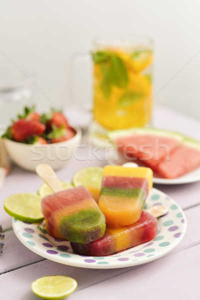 homemade natural ice pops Stock photo © nito