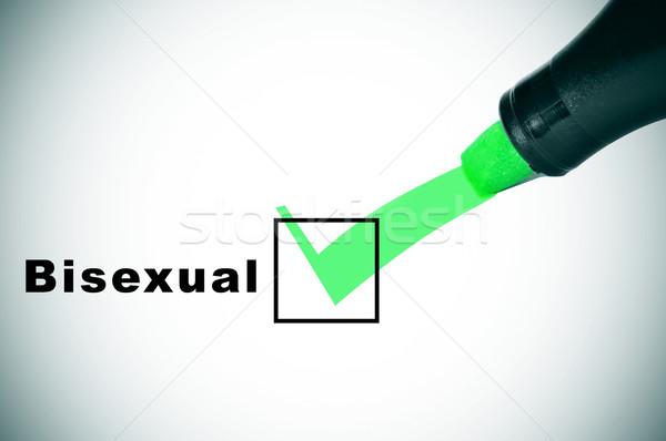 Bisexuels vérifier vert marqueur Photo stock © nito