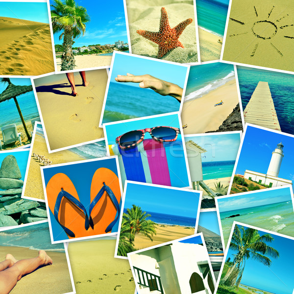 pictures of different summer sceneries shot by myself, simulatin Stock photo © nito
