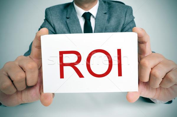 Roi акроним возврат инвестиции бизнесмен Сток-фото © nito