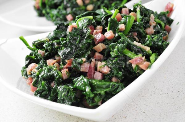 spanish espinacas con jamon, spinach with ham Stock photo © nito