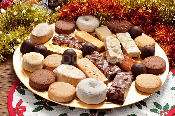 turron, polvorones and mantecados, typical christmas confections Stock photo © nito