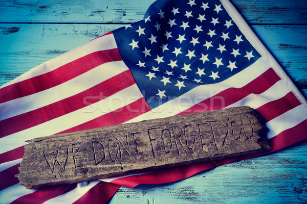 text we do not forget you and the flag of the US Stock photo © nito