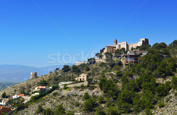 Sanctuary of the Virgen del Castillo, in Cullera, Spain Stock photo © nito