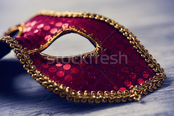 elegant red and golden carnival mask Stock photo © nito