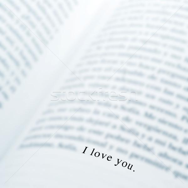 愛 書かれた 図書 黒 壁紙 ストックフォト © nito