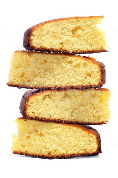Piskóta darabok fehér étel torta nyuszi Stock fotó © nito