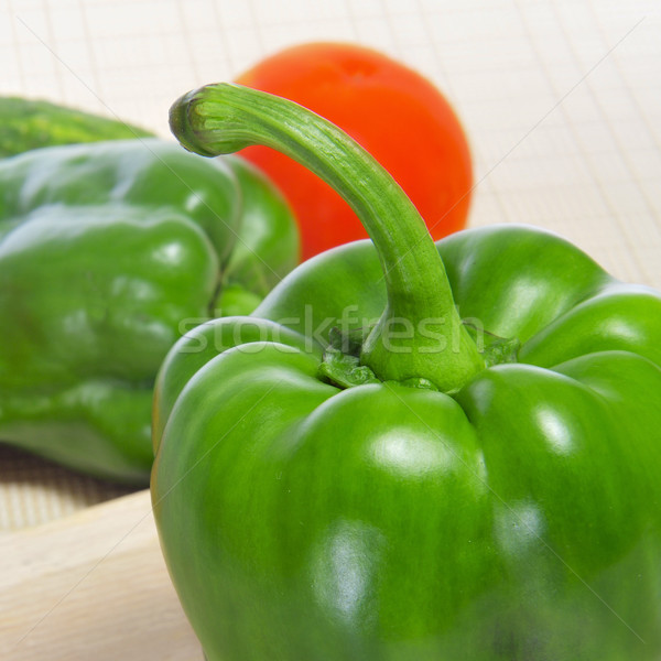 green peppers and tomato Stock photo © nito