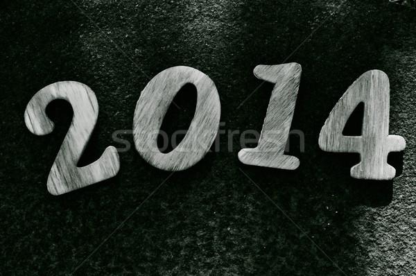 2014 木製 番号 番号 ストックフォト © nito