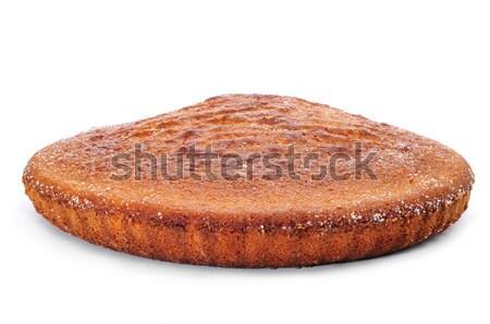 Piskóta közelkép fehér háttér reggeli eszik Stock fotó © nito
